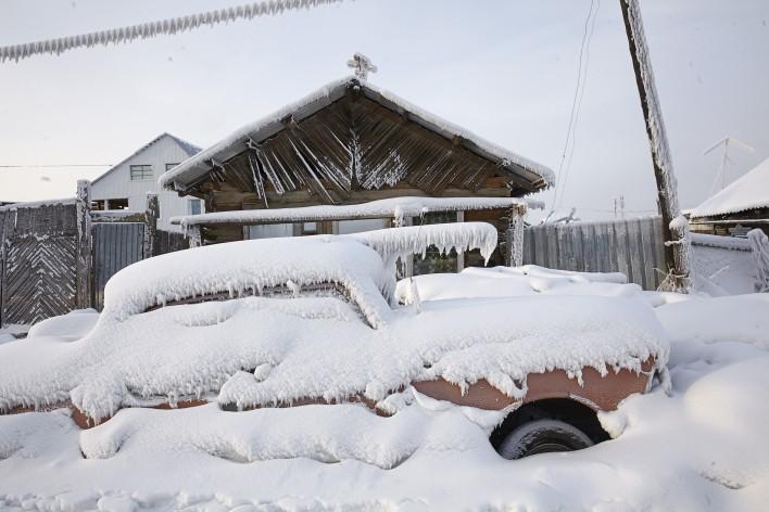 Extreme kou in Yakutsk