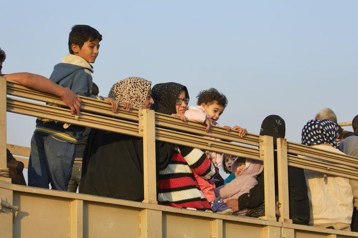 Vluchten voor IS © Jaco Klamer www.klamer-staal.nl