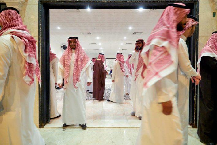 Sjeiks in Saoedi-Arabië © Jaco Klamer www.klamer-staal.nl