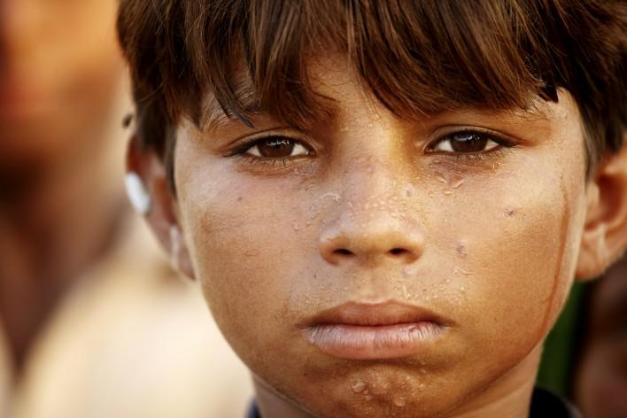 Watersnood in Pakistan © Jaco Klamer www.klamer-staal.nl