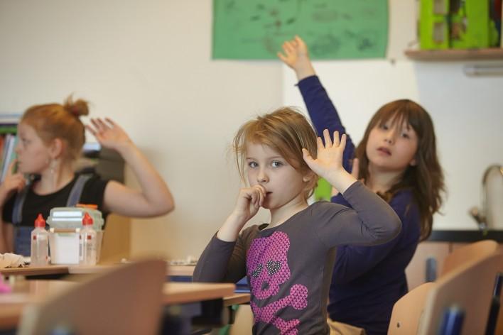 Uit de school klappen