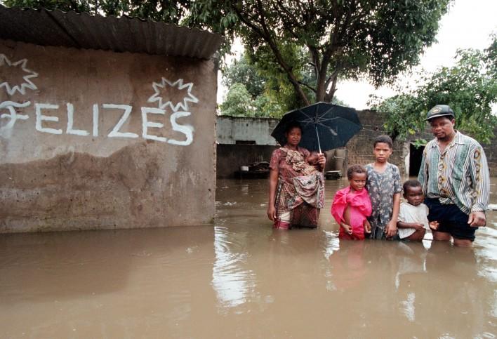 Overstromingen in Mozambique