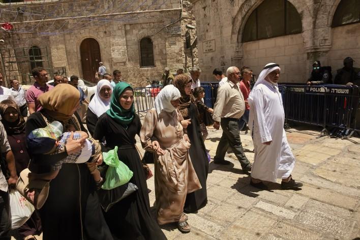 Op weg naar Rotskoepel in Jeruzalem