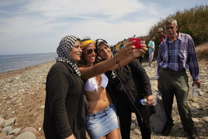 Vluchtelingen op Lesbos