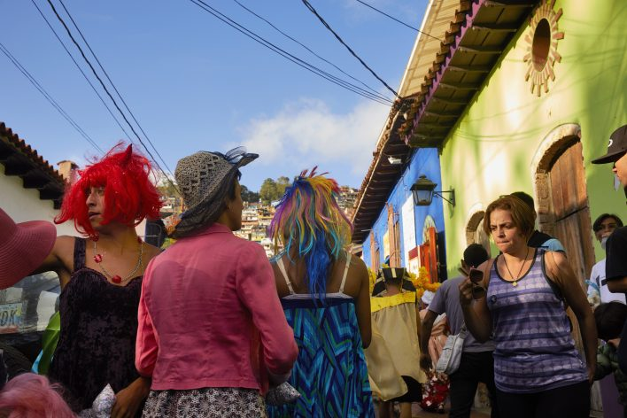 Venezuela Caracas carnaval in het park 27-2-2017 foto: Jaco Klamer