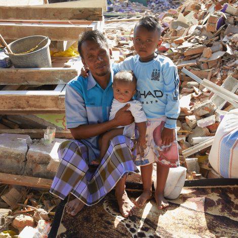 Aardschok op Lombok